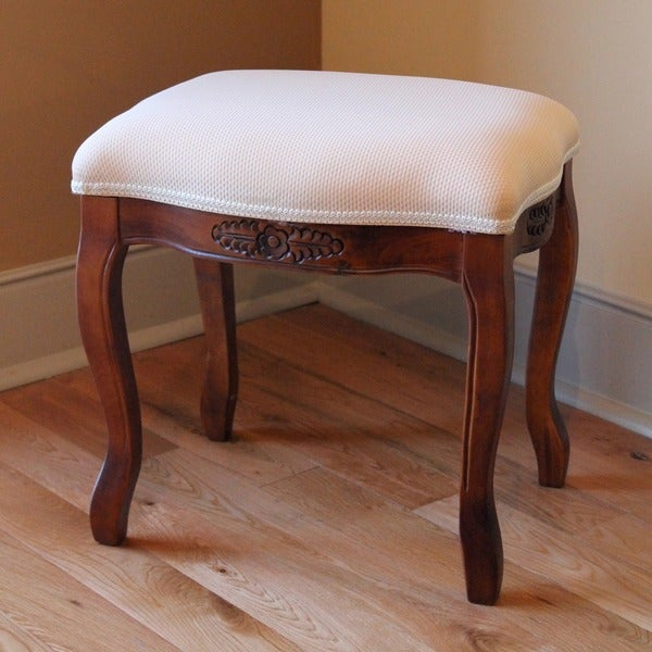 International Caravan Vanity Cushioned Top Stool