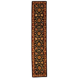 Handmade Heritage Kerman Black/ Peach Wool Runner (2'3 x 10')