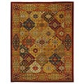 Handmade Heritage Diamond Bakhtiari Multi/ Red Wool Rug (5' x 8')
