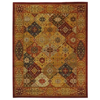 Safavieh Handmade Heritage Diamond Bakhtiari Multi/ Red Wool Rug (6' x 9')
