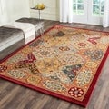 Handmade Heritage Diamond Bakhtiari Multi/ Red Wool Rug (6' x 9')