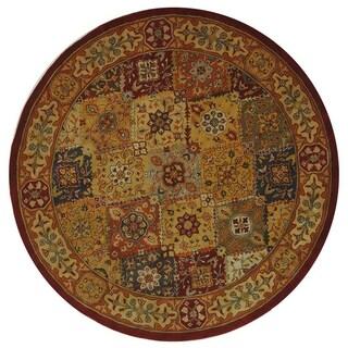 Safavieh Handmade Diamond Bakhtiari Multi/ Red Wool Rug (8' Round)