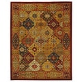 Handmade Diamond Bakhtiari Multi/ Red Wool Rug (9'6 x 13'6)