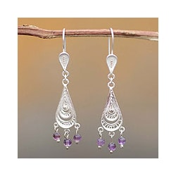'Constellations' Amethyst Earrings (Peru)