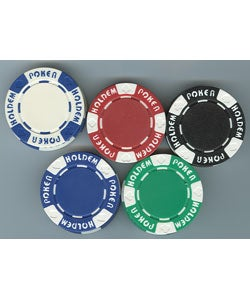 1000 Piece Texas Hold'em Poker Chip Set