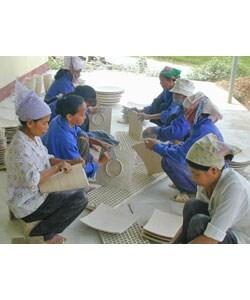 Bamboo Pedestal Bowl (Vietnam)