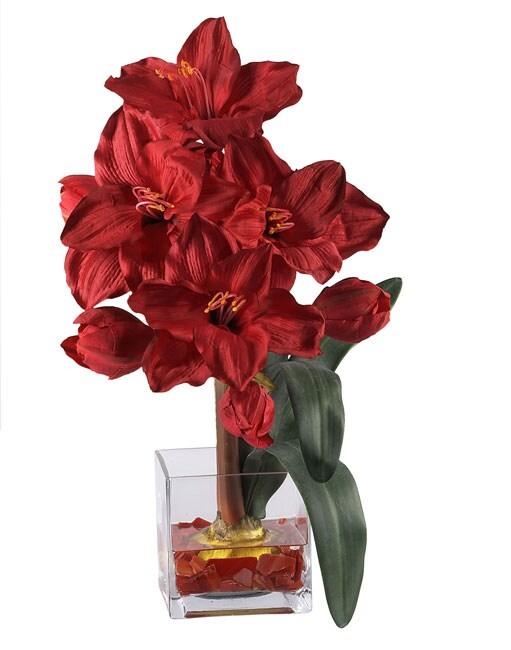 Amaryllis Liquid Illusion Flower Arrangement