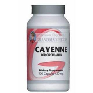 Grandma's Herbs Cayenne Supplement (100 Capsules)