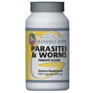 Grandma's Herbs 496mg Parasites & Worms Herbal Supplement (100 Capsules)