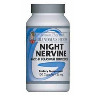Grandma's Herbs Night Nervine 426mg Supplement (100 Capsules)