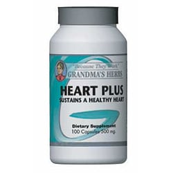 Grandma's Herbs Heart Plus 500mg Supplement (100 Capsules)