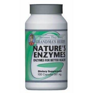 Grandma's Herbs 581mg Nature's Enzymes (100 Capsules)