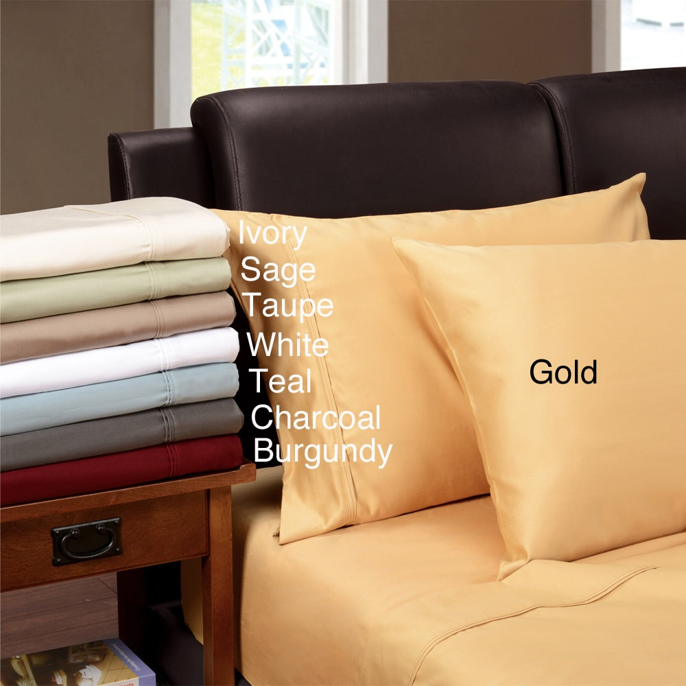 AT HOME by O Egyptian Cotton 1200 Thread Count Solid Oversized Sheet Set at Sears.com
