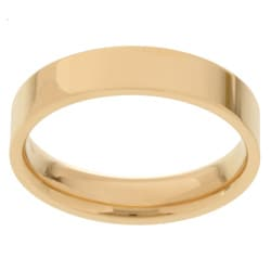 14k Yellow Gold Men's Flat 5-mm Wedding Band