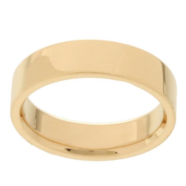 10k Yellow Gold Women's Flat 5-mm Wedding Band