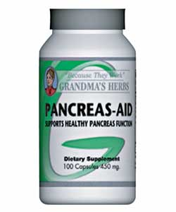 Grandma's Herbs 450mg Pancreas-Aid Herbal Remedy (100 Capsules)