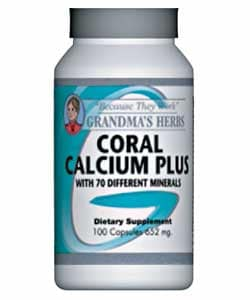 Grandma's Herbs Coral Calcium Plus Supplement (100 Capsules)