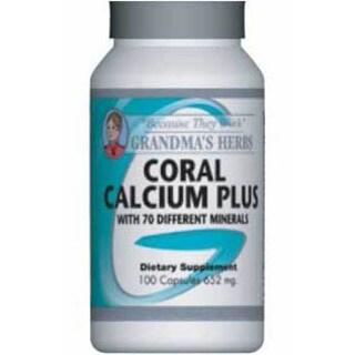 Grandma's Herbs Coral Calcium Plus Supplement (100 Capsules)