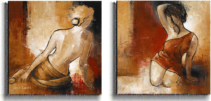 Lanie Loreth 'Seated Woman' Stretched Canvas Set (2-piece)