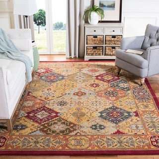 Handmade Heritage Diamond Bakhtiari Multi/ Red Wool Rug (2' x 3')