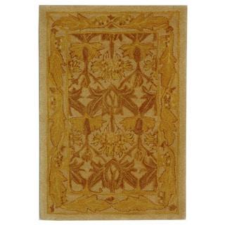 Safavieh Handmade Nomadic Ivory/ Gold Wool Rug (2' x 3')