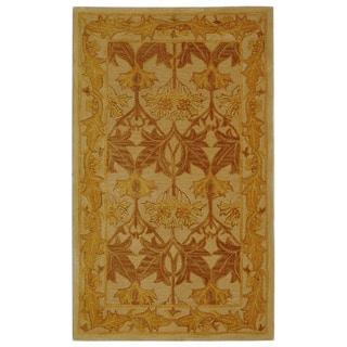 Safavieh Handmade Nomadic Ivory/ Gold Wool Rug (3' x 5')