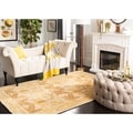 Handmade Nomadic Ivory/ Gold Wool Rug (3&#39; x 5&#39;)