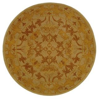 Safavieh Handmade Anatolia Nomadic Beige/ Gold Wool Rug (6' Round)