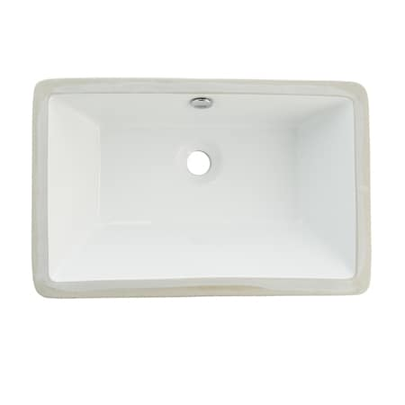 White Undermount Sink : Courtyard White Undermount Lavatory Sink