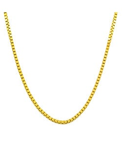 Fremada 14k Gold Overlay Sterling Silver Box Chain Necklace