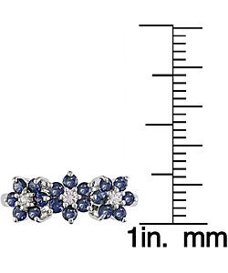 Miadora 10k White Gold Blue Sapphire Flower Ring