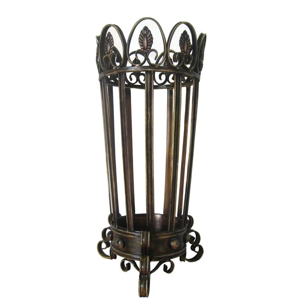 International Caravan Handmade Metal Umbrella Stand