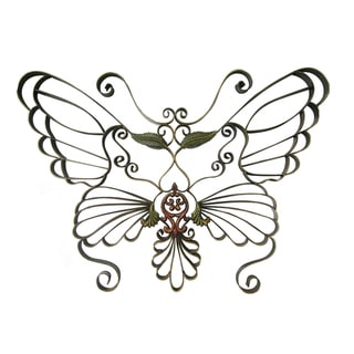 International Caravan Handwrought Metal Butterfly Wall Design