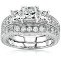 14k Gold 1 5/8ct TDW Diamond Bridal Ring Set (H-I, I1-I2)