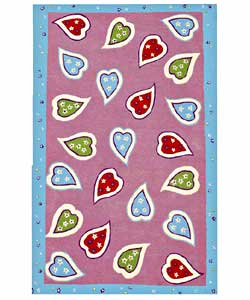 Hand-tufted Happy Heart Children's Rug (5' x 8')