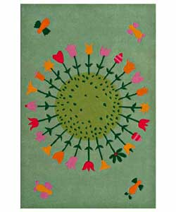 Hand-tufted Flower Kids' Rug (3' x 5')