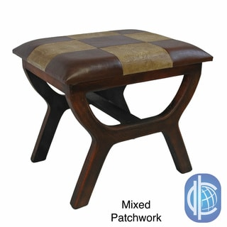 International Caravan Rectangular Stool with Wood Legs