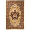 Safavieh Handmade Heritage Tabriz Ivory/ Red Wool Rug (6' x 9')