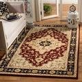 Safavieh Handmade Heritage Tabriz Red/ Black Wool Rug (7'6 x 9'6)