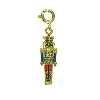 14k Gold Nutcracker Charm