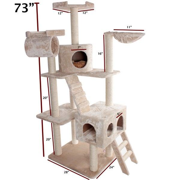 73-inch Casita Cat Furniture Tree Condo