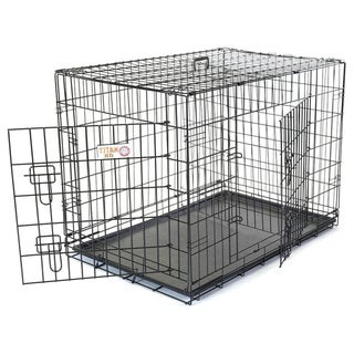 Titan Double Door 42-inch Folding Dog Crate