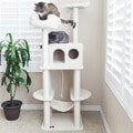 76-inch Bungalow Cat Furniture Tree Condo