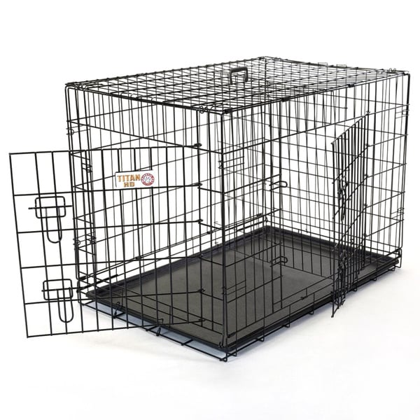 Double Door Extra Large 48-inch Folding Dog Crate