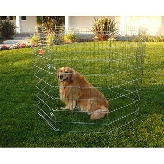 Extra-large Collapsible 48-inch Eight-panel Steel Pet Exercise Pen