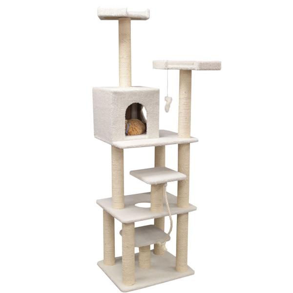 78-inch Bungalow Cat Furniture Tree Condo