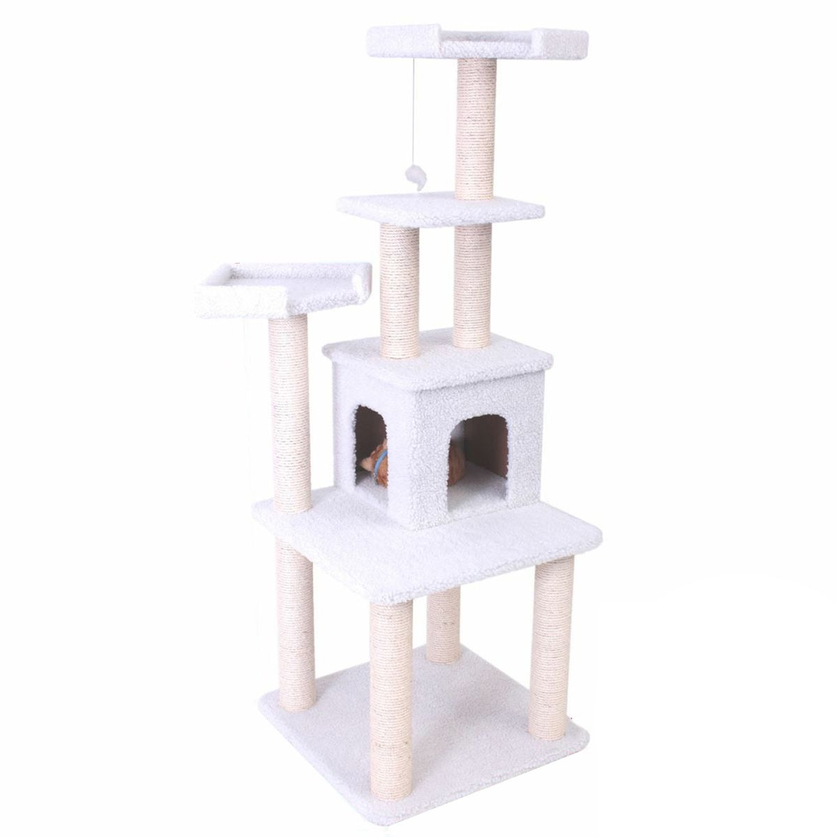 Majestic Pet 64-inch Bungalow Cat Furniture Tree Condo at Sears.com