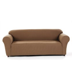 Pebble Check Stretch Loveseat Slipcover
