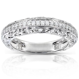 Annello 14k White Gold 1/3ct TDW Brilliant Diamond Ring (H-I, I2)
