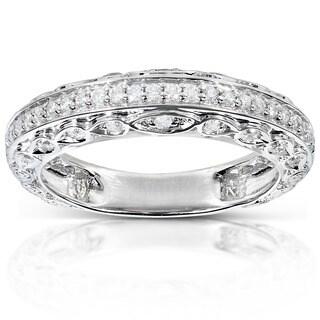 Annello 14k White Gold 1/3ct TDW Brilliant Diamond Ring (H-I, I2)
